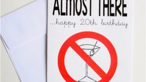 20th Birthday Card Ideas 20th Happy Birthday Card Almost to Drinking Age Martini
