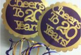 20th Birthday Decorations Items Similar to 20th Birthday Decorations Centerpiece