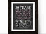 20th Birthday Gifts for Her 20th Anniversary Gift for Men Women 20th Wedding