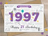 21 Birthday Cards for Daughter 1997 Daughter Happy 21st Birthday Memories Birth Year