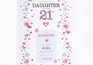 21 Birthday Cards For Daughter 21st Card A Wonderful Factory