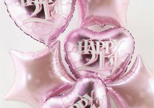 21 Birthday Flowers 21st Birthday Balloon Bouquet