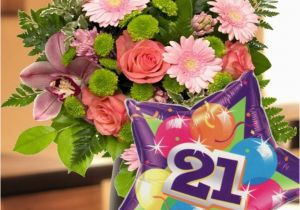 21 Birthday Flowers 21st Birthday Flowers and Balloon Our Flower Collection