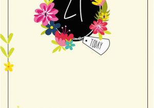 21 Birthday Flowers Cards for 1 Collection Karenza Paperie