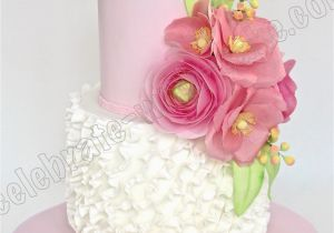 21 Birthday Flowers Celebrate with Cake Flowers and Ruffles 21st Birthday