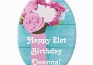 21 Birthday Flowers Happy 21st Birthday Bouquet Of Flowers Double Sided Oval