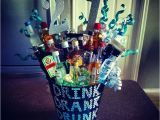 21 Birthday Gifts for Him 21st Birthday Alcohol Bouquet for Him Alcohol Glitter