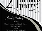 21 Birthday Invite 21st Birthday Invitation Templates Male Templates