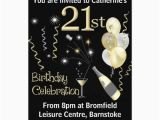 21 Birthday Invite 21st Birthday Party Invitations Black Gold Zazzle Com
