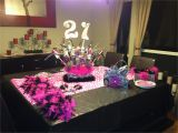 21 Birthday Table Decorations 21st Birthday Party Table Setup Party Planning