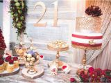 21 Birthday Table Decorations Kara 39 S Party Ideas Rustic Vintage 21st Birthday Party
