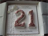 21st Birthday Card Ideas for A Boy 21st Birthday Keepsake Card Handmade Personalised Boxed