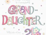 21st Birthday Card Messages for Granddaughter Granddaughter 21st Birthday Greeting Card Cards Love Kates