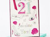 21st Birthday Cards for Her Boxed 21st Birthday Card 21 Years Of Fabulous Only 1 99