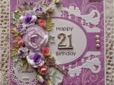 21st Birthday Cards for Her Handcrafted by Helen 21st Birthday Card