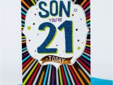 21st Birthday Cards for son 21st Birthday Card Fantastic son Only 1 29