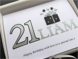 21st Birthday Cards for son 21st Birthday Card Grandson son Brother Nephew
