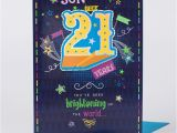 21st Birthday Cards for son 21st Birthday Card son Have A Great Day Only 1 49
