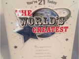 21st Birthday Cards for son Happy 21st Birthday son Card Worlds Greatest Large Size