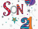 21st Birthday Cards for son son On Your 21st Birthday Greeting Card Cards