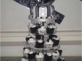 21st Birthday Decorations Black And Silver White Masquerade Cake