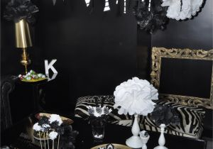 21st Birthday Decorations Black And Silver White Karroyal