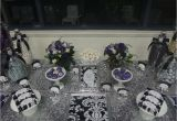 21st Birthday Decorations Black And Silver Purple White Party Ideas