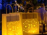 21st Birthday Decorations for Her 21st Birthday Paper Lantern Bag Party Decoration by