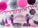21st Birthday Decorations for Her Pink Sparkling Celebration 21st Birthday Party Supplies