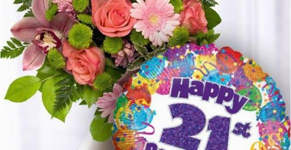 21st Birthday Flowers Delivered 21st Birthday Flowers and Balloon Available for Uk Wide