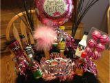 21st Birthday Gift Basket Ideas for Her 21st Birthday Basket Holidays Celebrations Pinterest