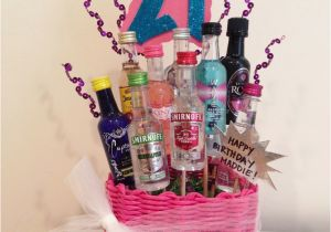 21st Birthday Gift Basket Ideas For Her My Baskets Pinterest