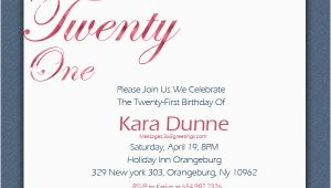 21st Birthday Invitation Wording Samples 21st Birthday Invitations 365greetings Com