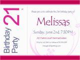 21st Birthday Invitations for Girls 21st Birthday Invitations 365greetings Com