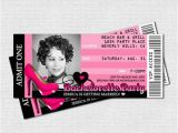 21st Birthday Invitations for Girls Items Similar to Bachelorette Ticket Invitations 21st or