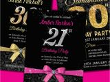 21st Birthday Invitations for Girls Personalised Birthday Invitations Party Invites 18th