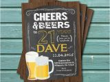 21st Birthday Invitations for Guys 21st Birthday Invitation for Guys Cheers to 21 Year