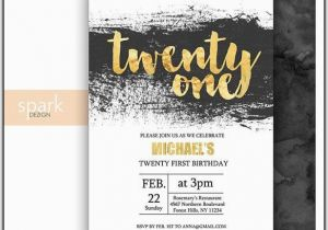 21st Birthday Invitations For Guys Templates Template