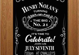 21st Birthday Invitations For Guys Printable Invitation Bachelor By