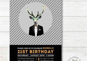 21st Birthday Invitations Male 21st Birthday Invitation Adult Birthday Invitations for