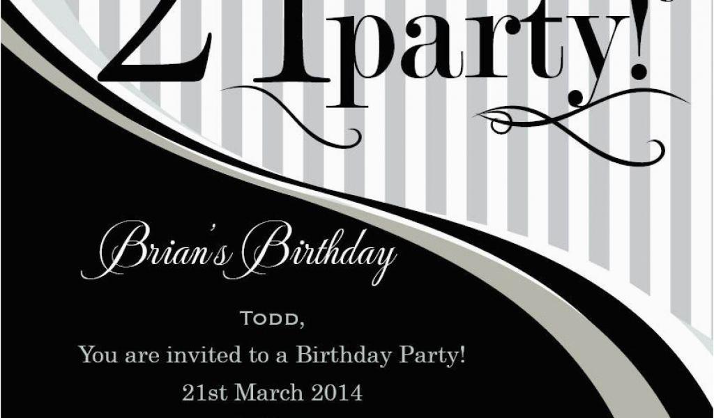 Download By SizeHandphone Tablet Desktop Original Size Back To 21st Birthday Invitations Male