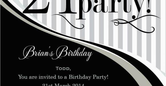 21st Birthday Invitations Male Invitation Templates