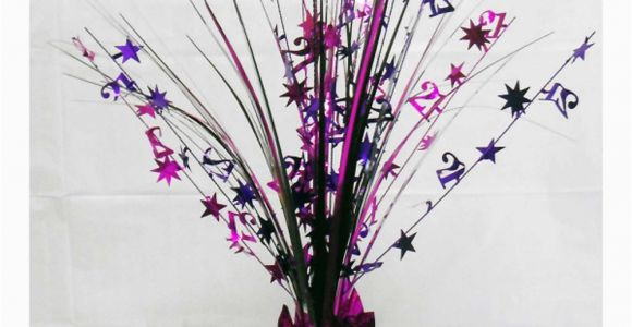 21st Birthday Table Decorations 21st Birthday Spray Centrepiece Table Decoration Black
