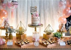 21st Birthday Table Decorations Kara 39 S Party Ideas Elegant