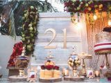 21st Birthday Table Decorations Kara 39 S Party Ideas Rustic Vintage 21st Birthday Party