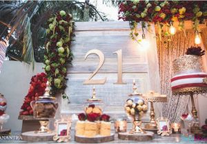 21st Birthday Table Decorations Kara 39 S Party Ideas Rustic Vintage