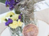 21st Birthday Table Decorations Rustic Lavender and Yellow Tangled 21st Birthday