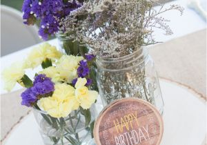 21st Birthday Table Decorations Rustic Lavender And Yellow Tangled