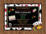 21st Birthday Vegas Invitations 21st Birthday Casino Invitation 21st Birthday Casino