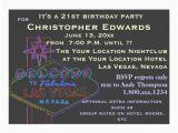21st Birthday Vegas Invitations 21st Birthday In Las Vegas for Male Card Zazzle Com Au